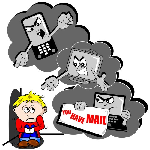 small resolution of avoiding and responding to cyberbullying clipart