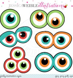 monster eyes cute printable birthday party favors clipart [ 950 x 950 Pixel ]