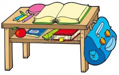 Clipart of the Student Desk free image