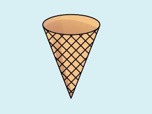 cone ice cream clipart simple cones drawing clip empty waffle gclipart icecream animasi mewarnai gambar terlengkap dan untuk library svg