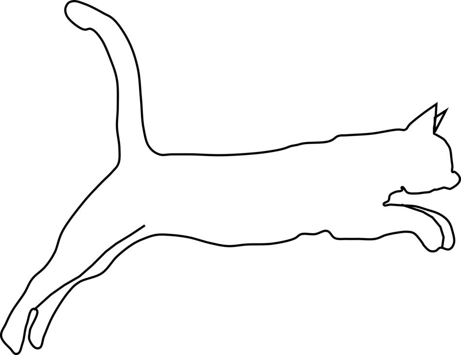 Cat Jumping line Art sketch free image