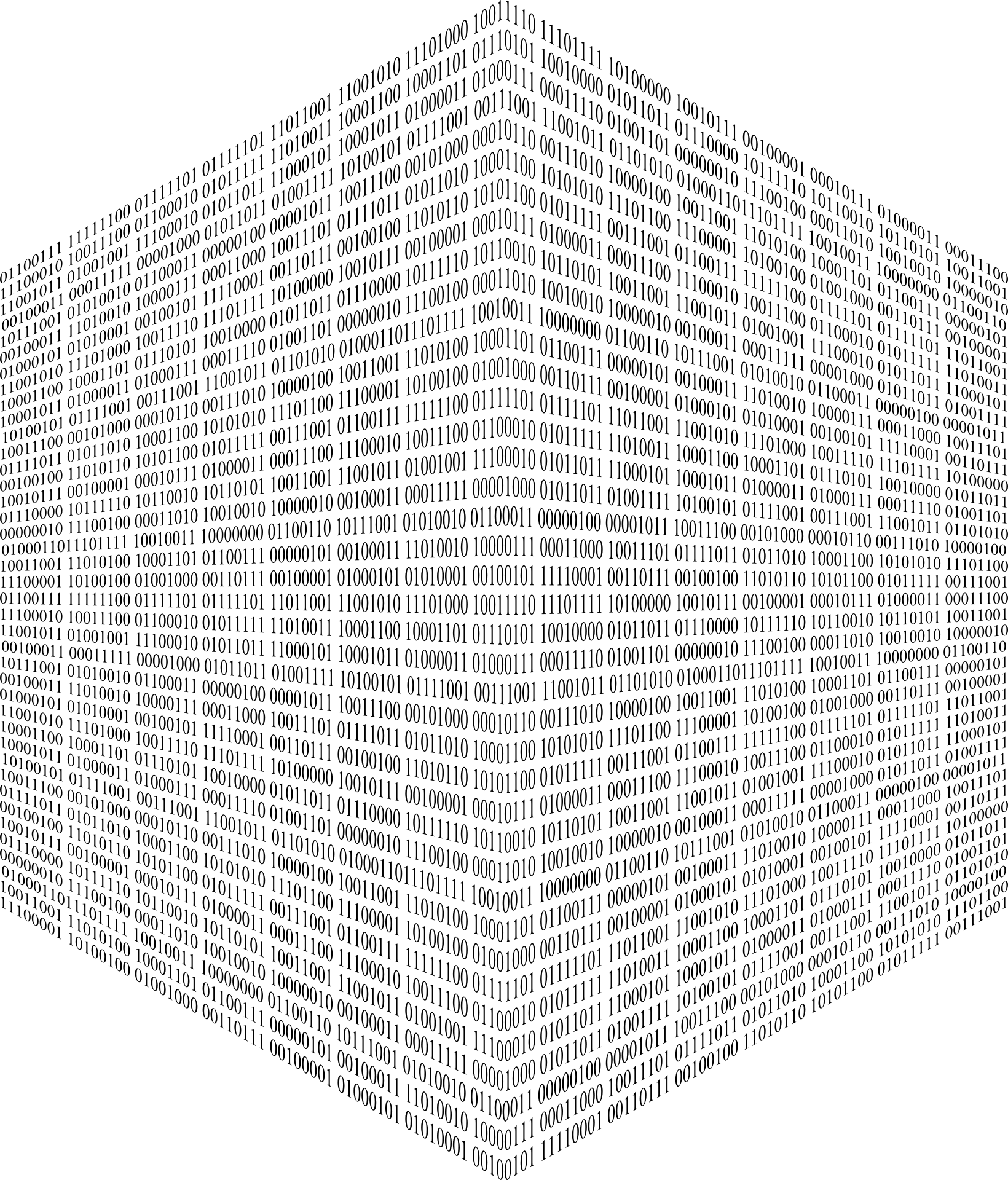 Cube With Binary Code Free Image