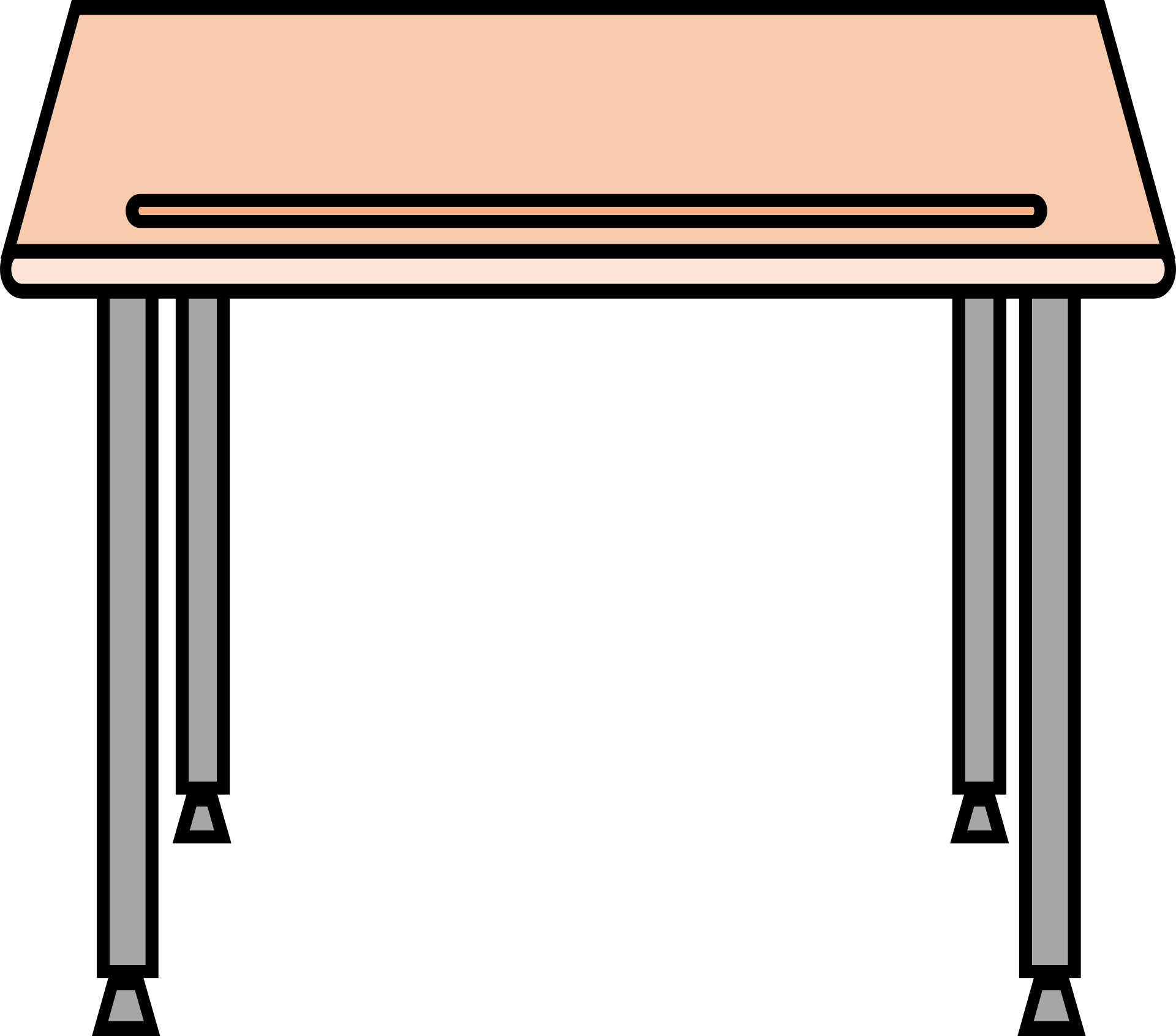 Graphic drawing of student desk free image