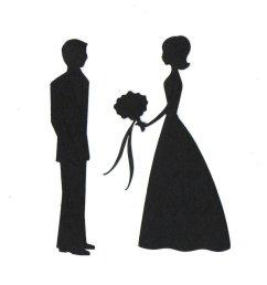 bride groom silhouette clip art [ 950 x 894 Pixel ]