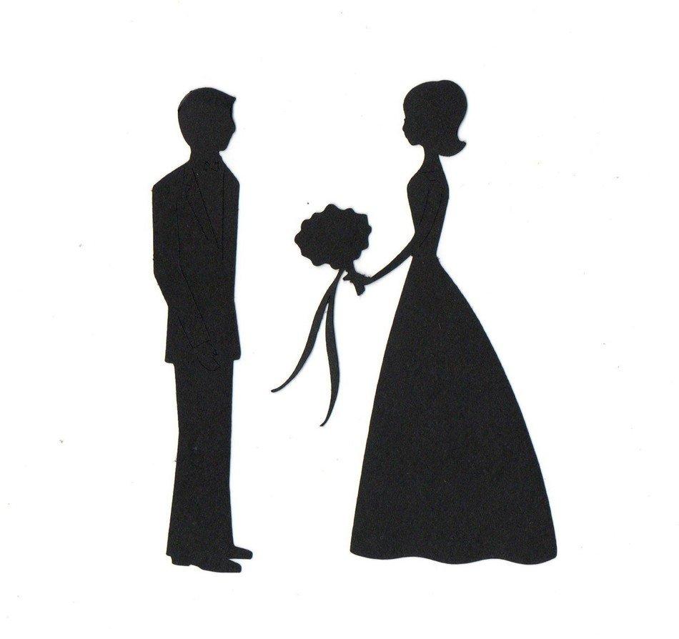 medium resolution of bride groom silhouette clip art