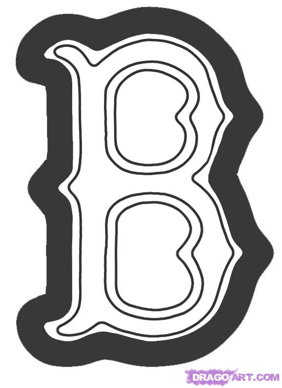 Red Sox Logo Coloring Pages Free Image