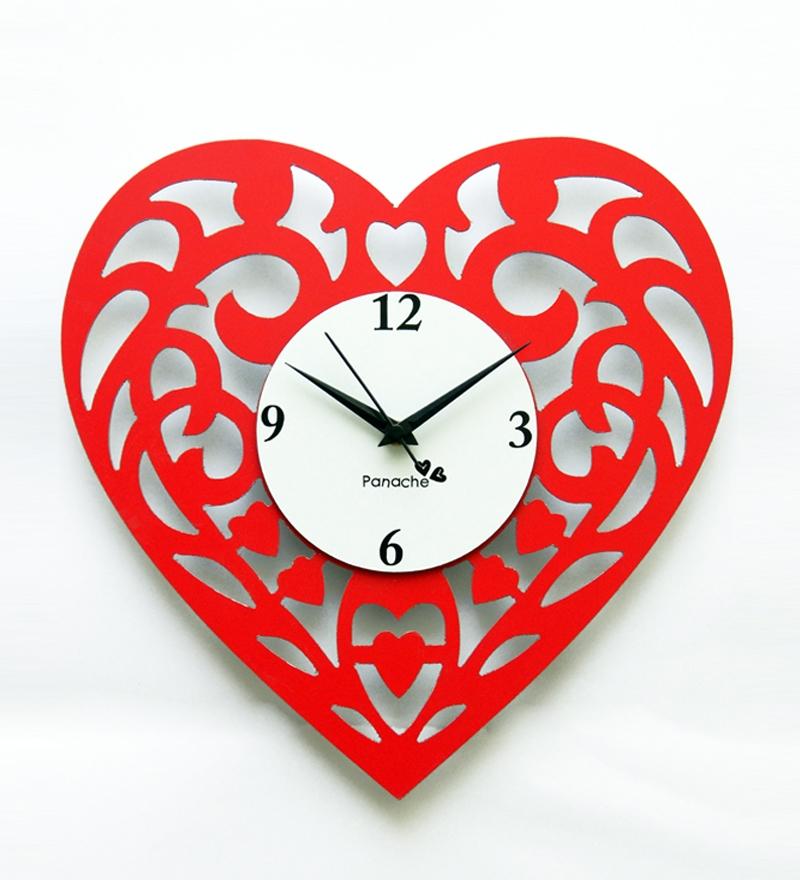 heart shaped clock free
