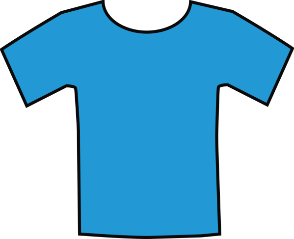 Drawing Of Plain Blue T-shirt Free