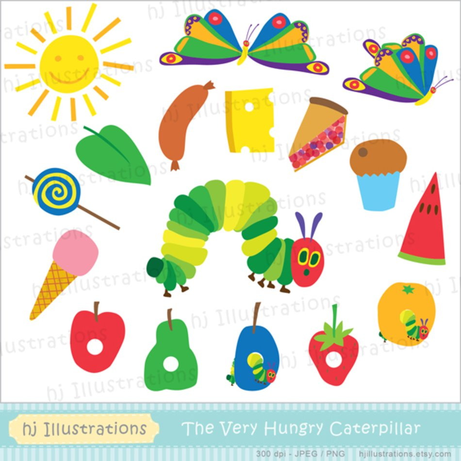 hight resolution of very hungry caterpillar clip art n9