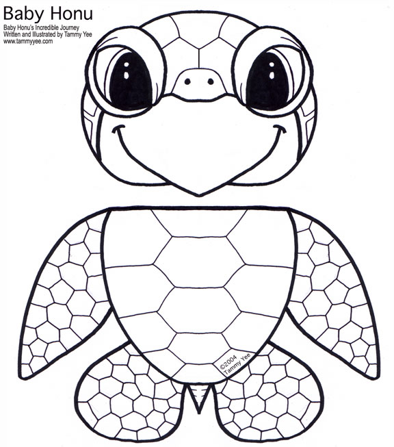 Turtle Paper Bag Puppet Template free image