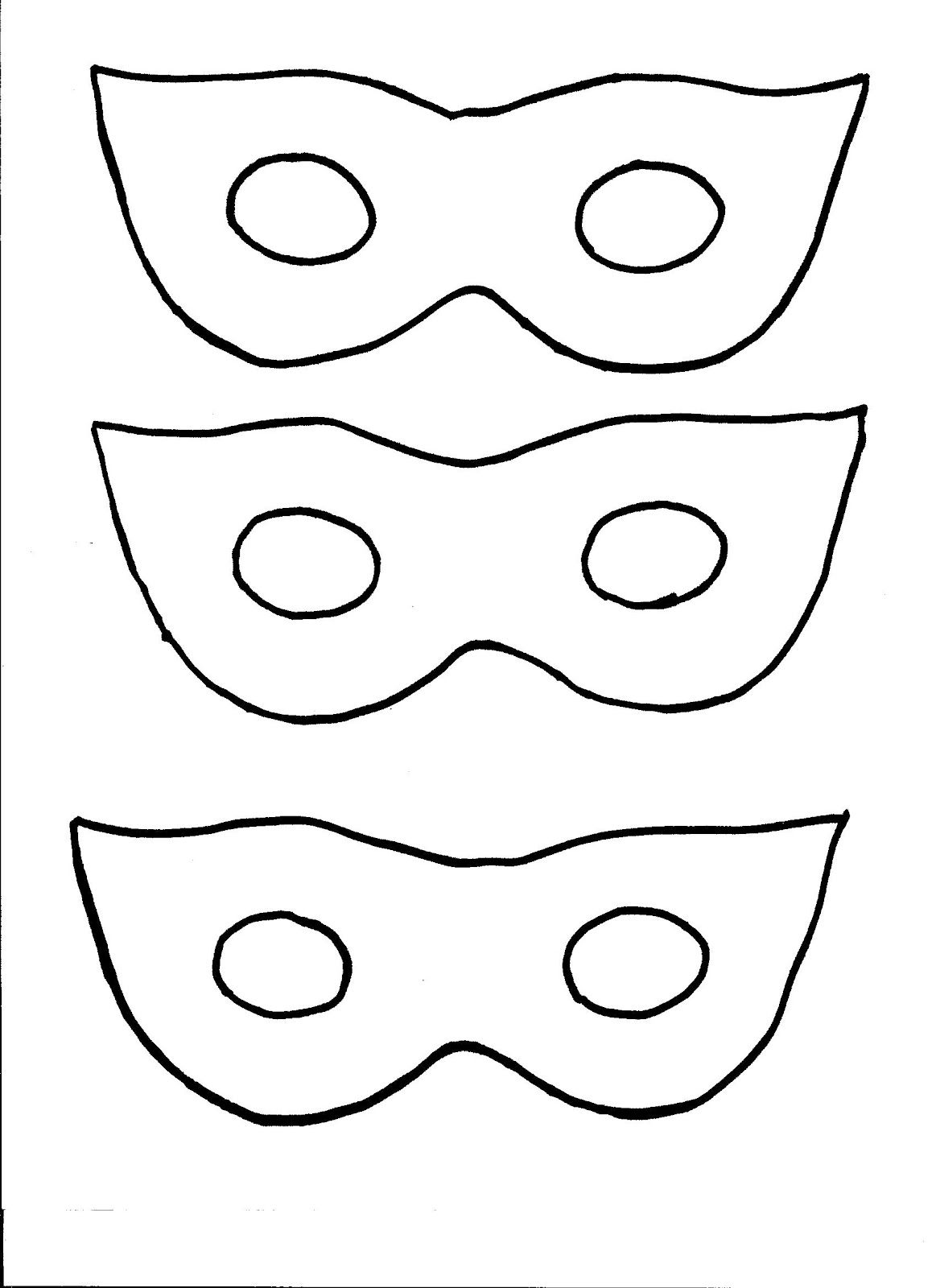 masquerade mask cut out