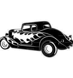 car hot rod vector clip art [ 950 x 950 Pixel ]