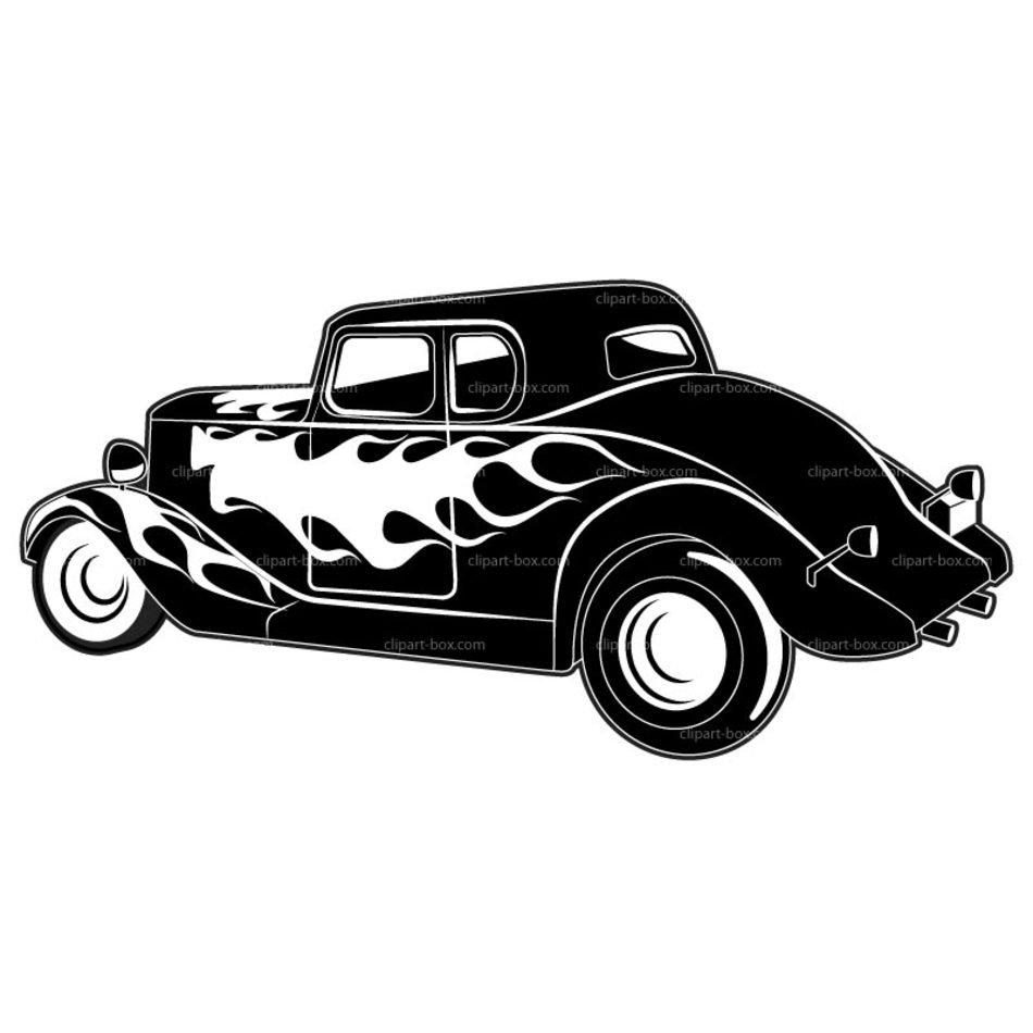 medium resolution of car hot rod vector clip art