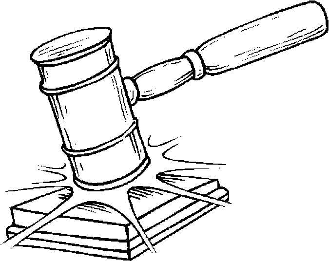 Judge Gavel Coloring Page free image