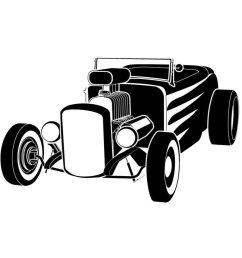 hot rod vector clip art n6 [ 950 x 950 Pixel ]