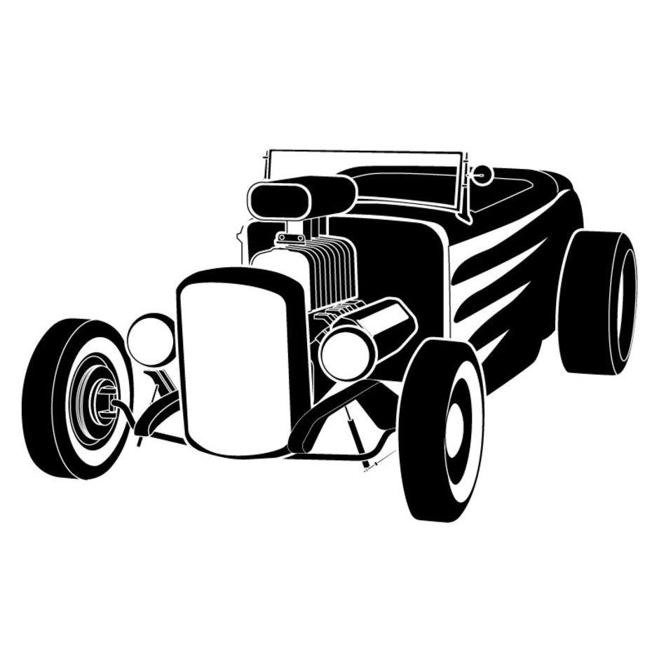 hight resolution of hot rod vector clip art n6