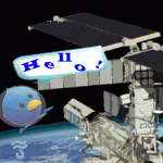 Twitter on the space station ISS