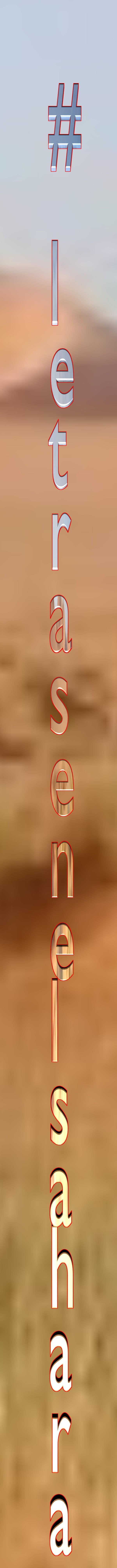 logotipo #letrasenelsahara