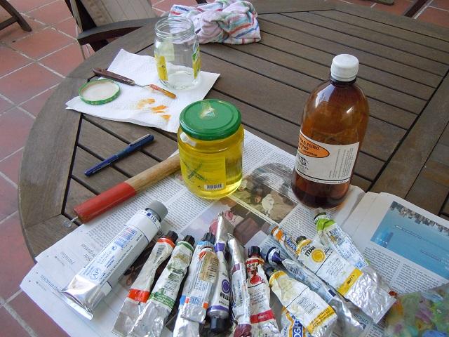 Cmo preparar leos con pigmentos  PIZiadas grficas