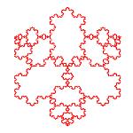 صور النمطي هندسي متكرر العودية: Curva دي كوتش [JAVA]