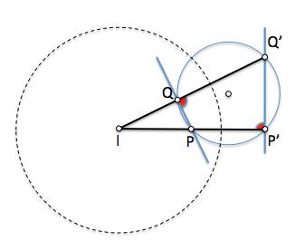 Las rectas que unen cuatro puntos de una circunferencia, dos a dos son antiparalelas
