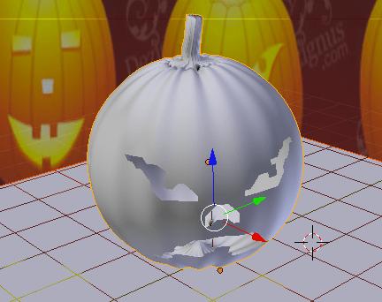 calabazas de halloween sobre plano