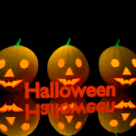 Tres calabazas de Halloween