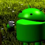 Andy (Android) en un frutal comiéndose una Mac-zana