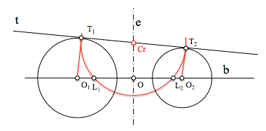 Circunferencias de un haz hiperbólico tangentes a una recta