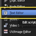 Edit a Python Script in Blender