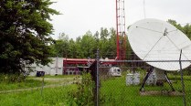 Brian Wells delivered his pizza order by driving his Geo Metro down a dirt road to this clearing, the location of the transmission tower for WSEE-TV, the CBS affiliate in Erie, Pennsylvania. He had the collar bomb locked to his neck in the clearing. RICH FORSGREN/ERIE TIMES-NEWS