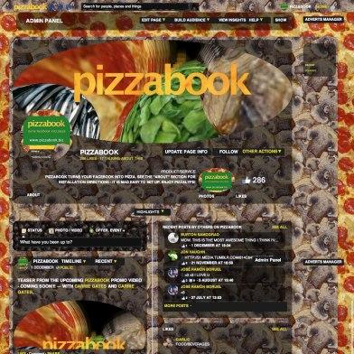Pizzabook facebook page - December 4, 2013