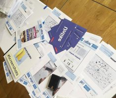 Unlike Exhibition 2016 in France - Stack of Print Materials
