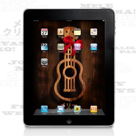 Ukulele Old West Holiday iPad  iPhone Wallpapers