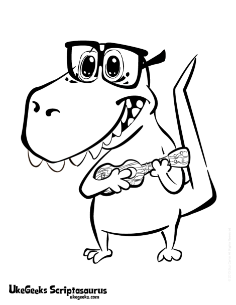 Scriptasaurus Mascot: Slightly Cuter, Mucher Nerdier