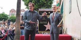 Quentin Tarantino y Christoph Waltz en el paseo de la fama