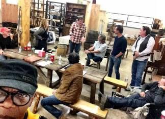 """Samuel L. Jackson ejerciendo de infiltrado en el rodaje de """"The Hateful Eight"""""""