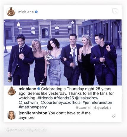 Reencuentro Friends 2019 - El emotivo mensaje de Jennifer Aniston a Matt LeBlanc