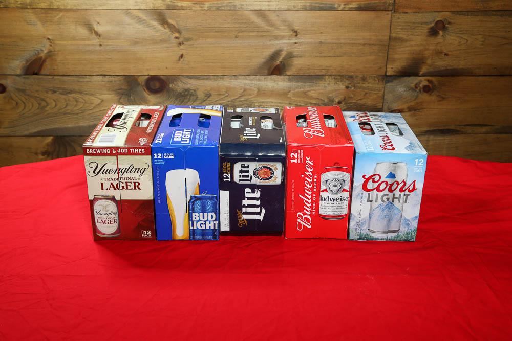 12 packs domestic beer