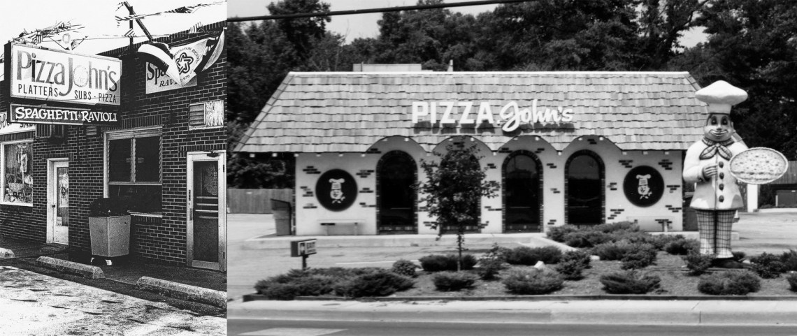 Our original location from 1966-76 (left) before we moved to our current location in 1977.