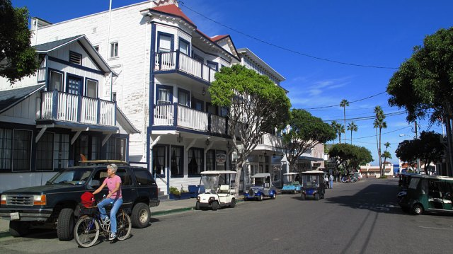 Wandering the streets of Avalon. Almost all the locals drive golf carts - gas is very expensive, plus, nothing is far from where you are.