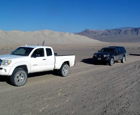 Death Valley, Eureka Dunes, Steel Pass, Saline Valley Rd.