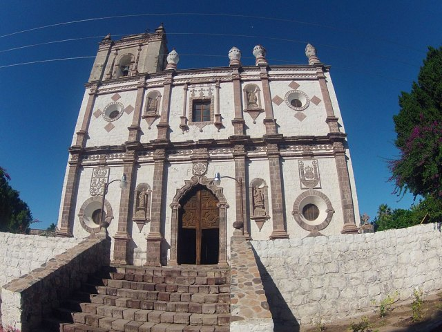 Mission San Ignacio was founded by the Jesuit missionary Juan Bautista de Luyando in 1728 at the site of the modern town of San Ignacio.  The site proved to be highly-productive, agriculturally, and served as the base for later Jesuit expansion in central Baja.