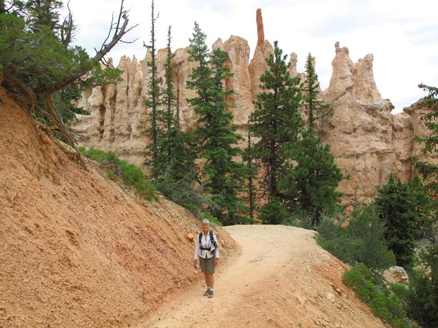Hiking in the bowels of Bryce.