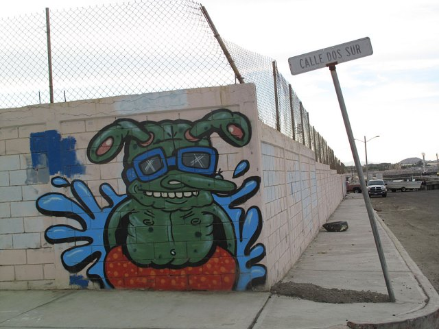 Street art near the San Felipe Marina.