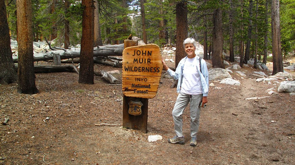 On the Cottonwood Lakes Trail, we passed from the Golden Trout Wilderness into the John Muir Wilderness - the transition was relatively painless. A little farther down the trail, we saw the Golden Trout camp - a group of old houses which are reportedly home to a family of bears. Note the funny leg.