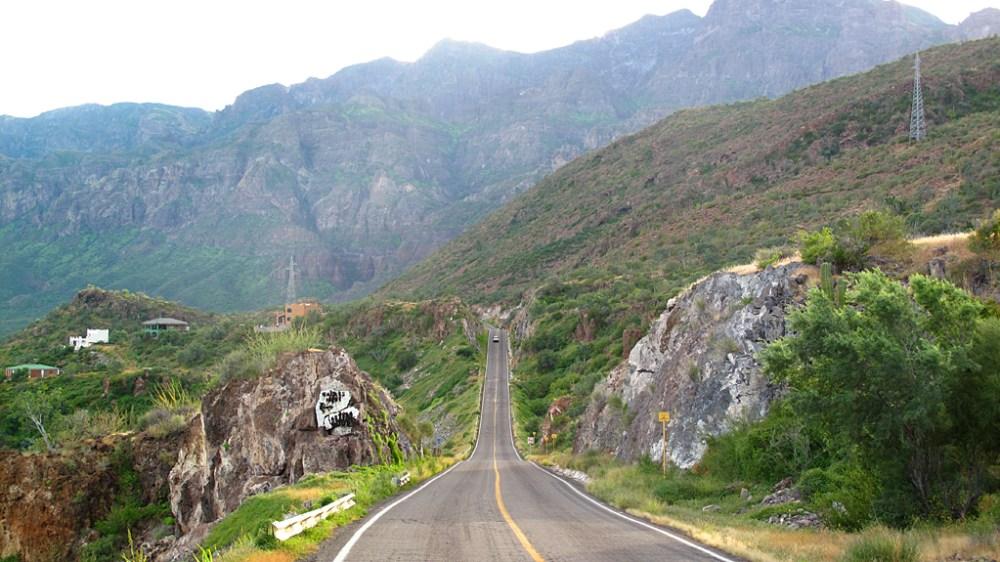 Mexico Highway 1, Baja California Sur.