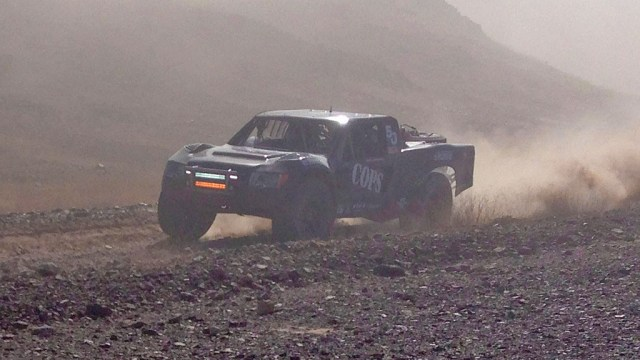 Zak Langley is in the hunt for the win in Trophy Truck #50. Zak came up thru the pack and finished 17th in class.