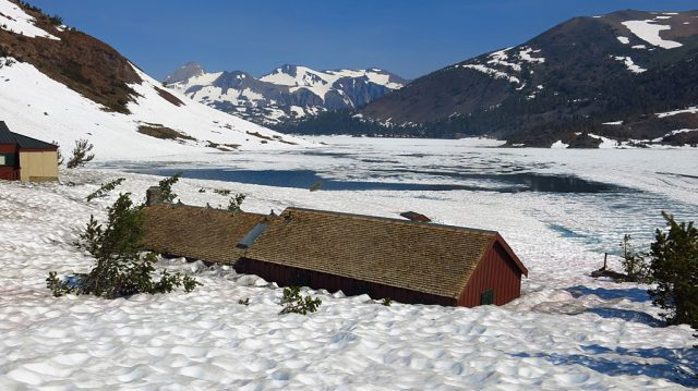 Saddlebag Resort was not open in July, and due to snow damage, would not be opening for the remainder of 2017. If you're looking to purchase a resort in the high Sierras, this one is for sale.