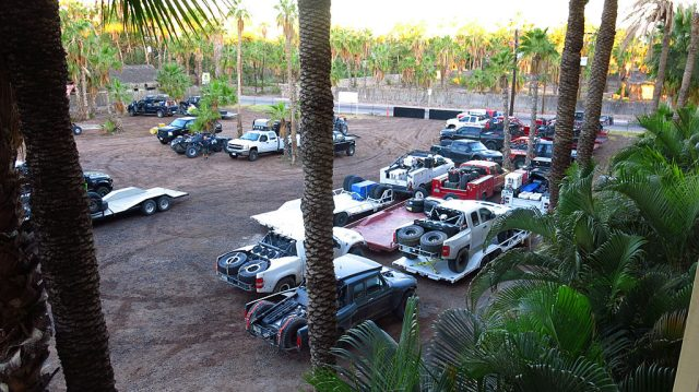 COPS arrived in Loreto before most other teams, but on the weekend prior to the race, the hotel parking lot was filling up with other teams' prerunners.
